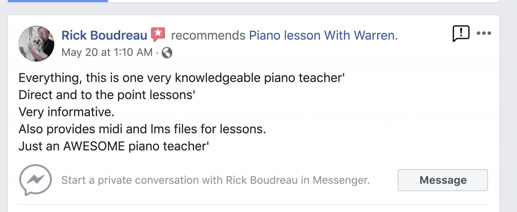 Home – Piano Lesson With Warren